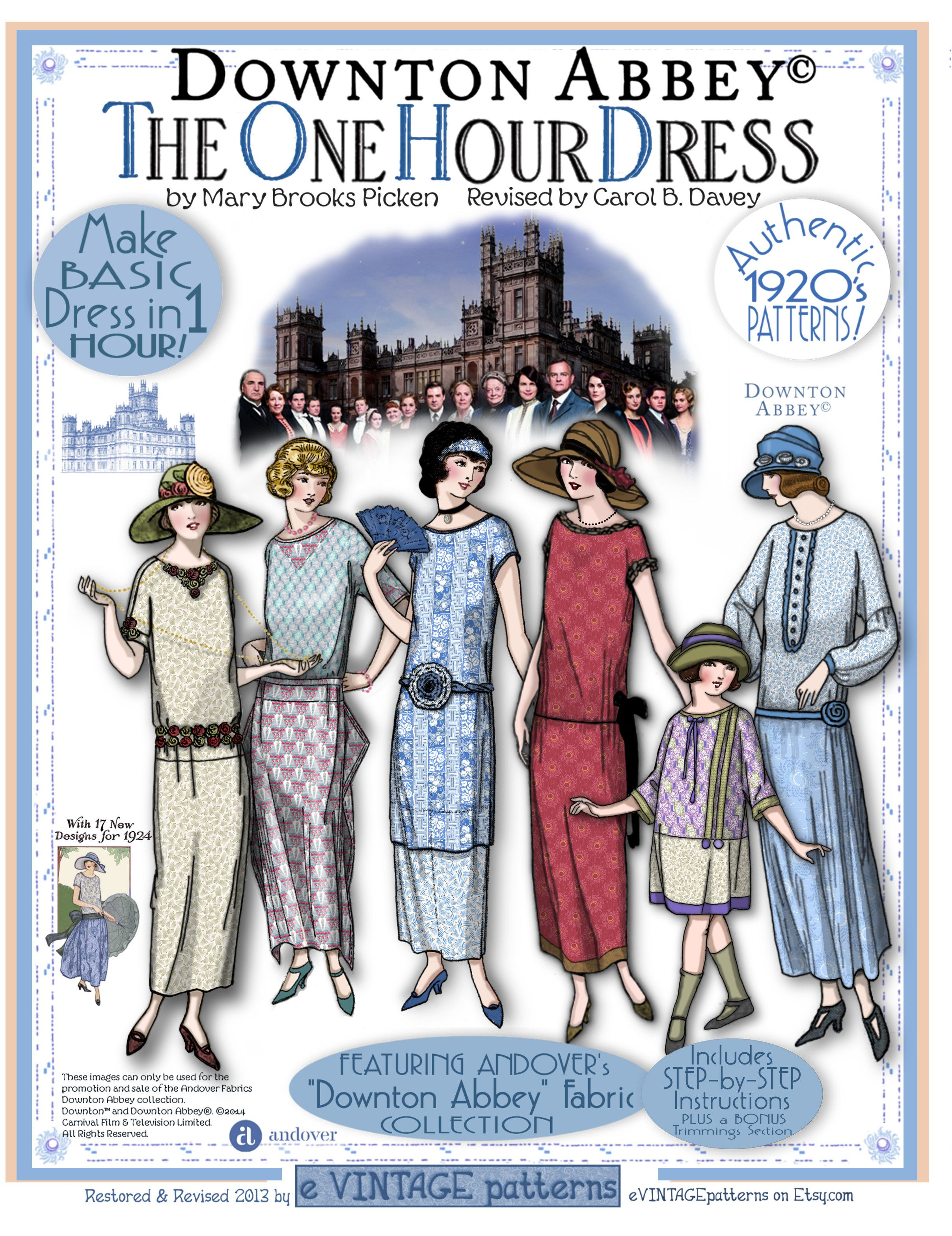 downton abbey one hour dress evintage sewing. Black Bedroom Furniture Sets. Home Design Ideas