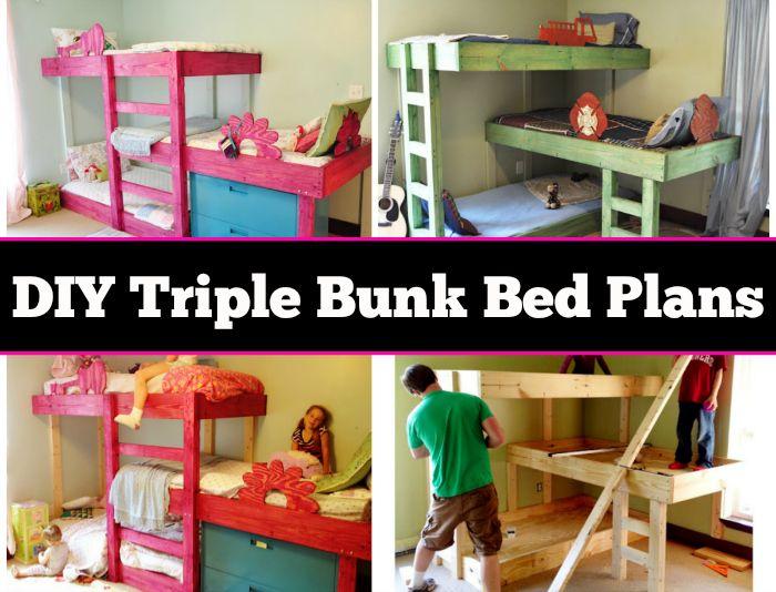 DIY Triple Bunk Beds