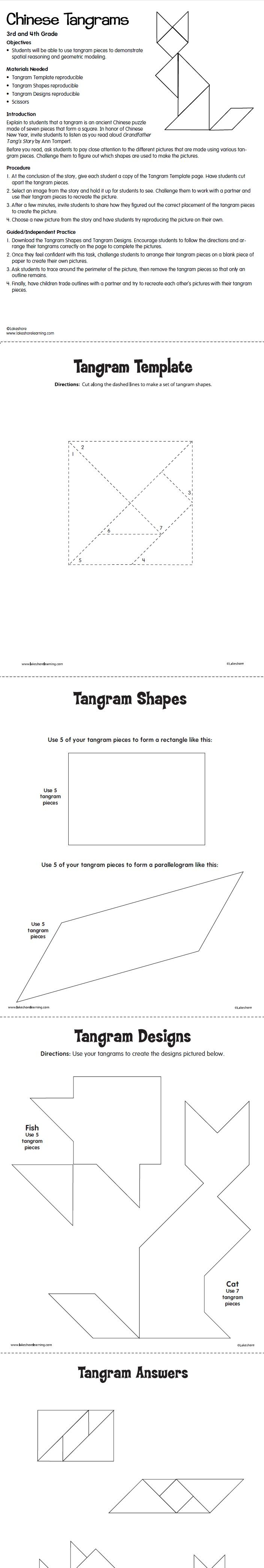Chinese Tangrams Lesson Plan from Lakeshore Learning   School Ideas ...