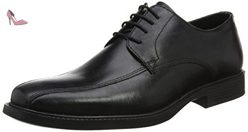 Louth, Chaussures Brogues à Lacets Homme - Noir - Noir, 43Redtape