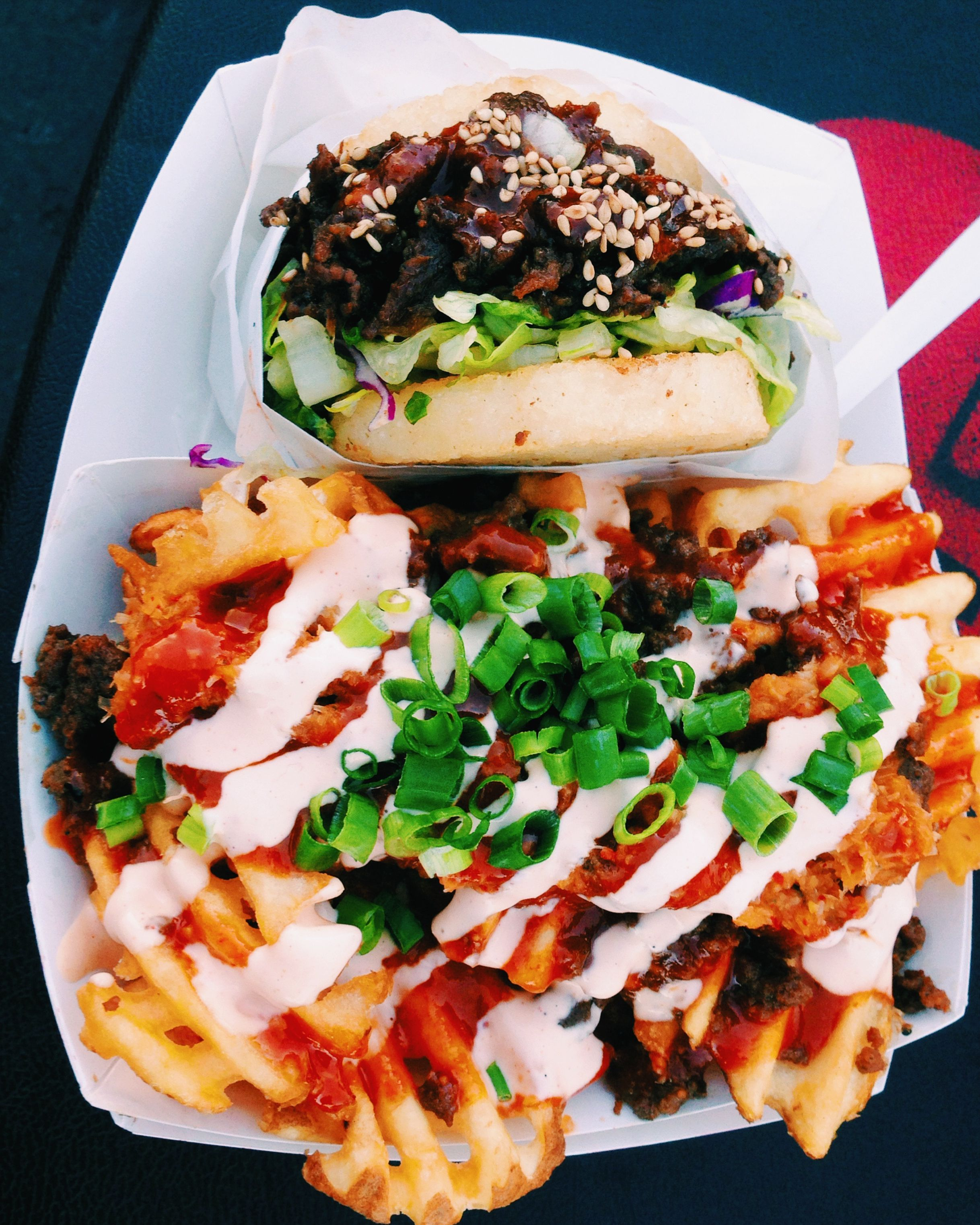 Koja Kitchen At Off The Grid Otg Beef Bulgogi Burger W Rice
