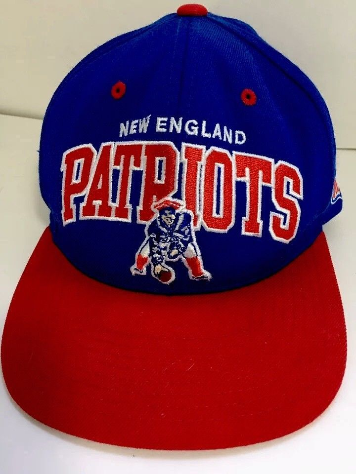 New England Patriots Vintage Snapback Nfl Hat Cap Mitchell Ness Blue And Red Mitchellness Newenglandpatriots Nfl Hats New England Patriots Hats For Sale