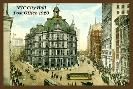 New York City Hall Post Office. Single 4x6 quilt block. Ready to ... : new york city quilt - Adamdwight.com