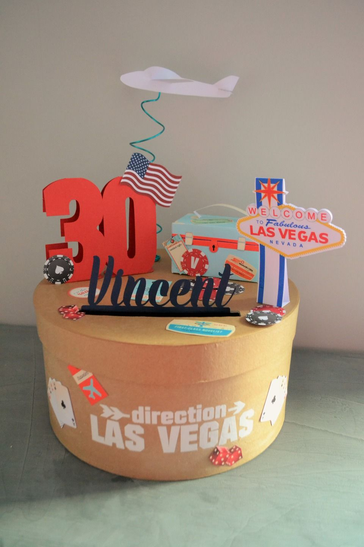 urne theme las vegas las vegas On decoration 40 ans homme