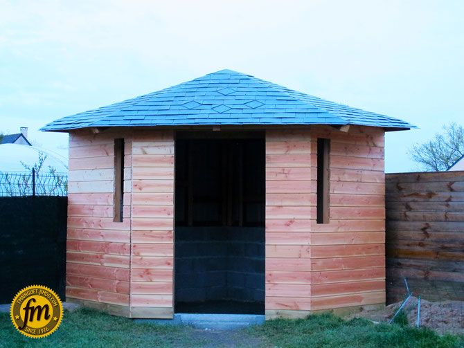 Toiture cabane de jardin d\'angle | Abri de jardin d\'angle ...
