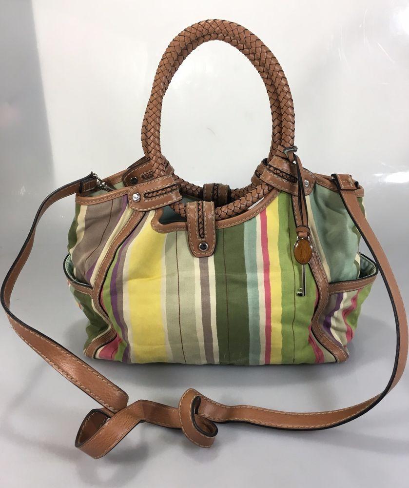 470c883afd01 Details about Canvas Handbag SNUG STAR Multi-Color Striped Lattice ...