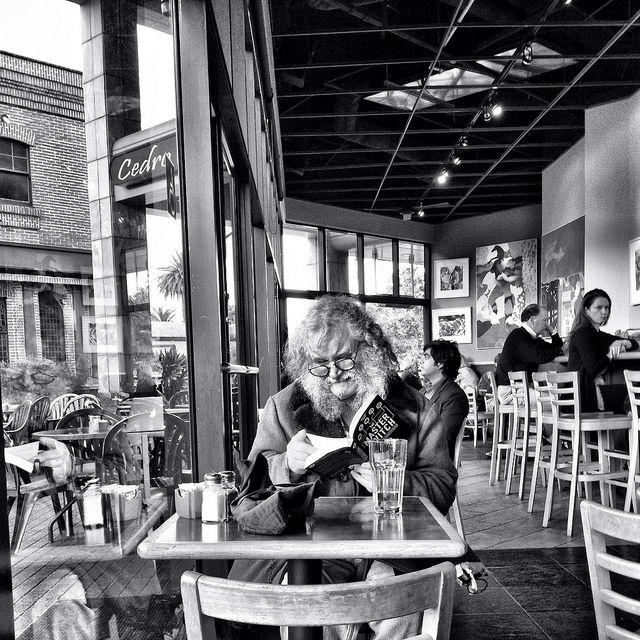 Afternoon Book, Cafe Borrone, Menlo Park, California