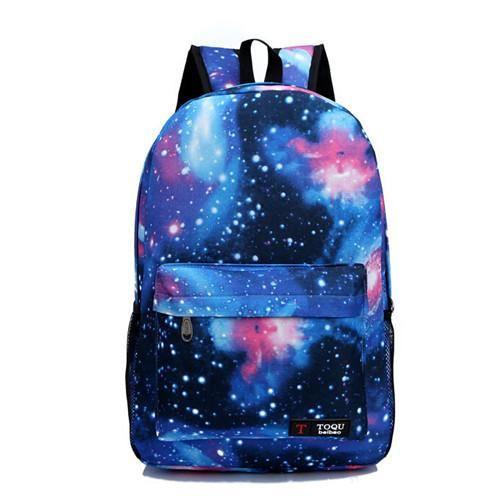 Mochila Galaxia Com Estojo Mochilas Escolar Violeta no