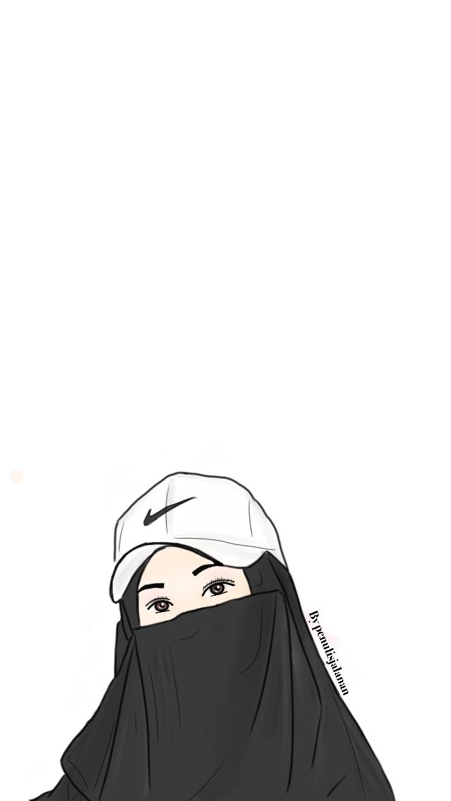 Pin Oleh 60173316550 Di Doodle Niqabis Seni Islamis Animasi Gambar