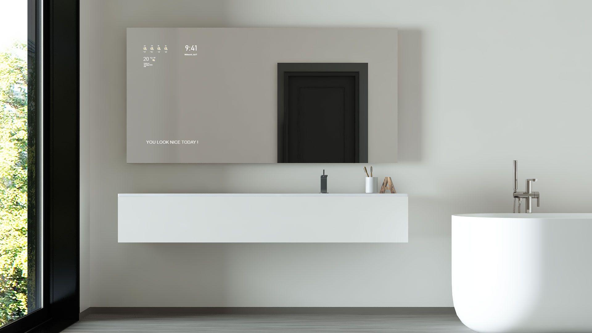 Runder Led Lichtspiegel O 60 Cm Mit Hintergrund Beleuchtung Badezimmerspiegel Spiegel Spiegelschrank