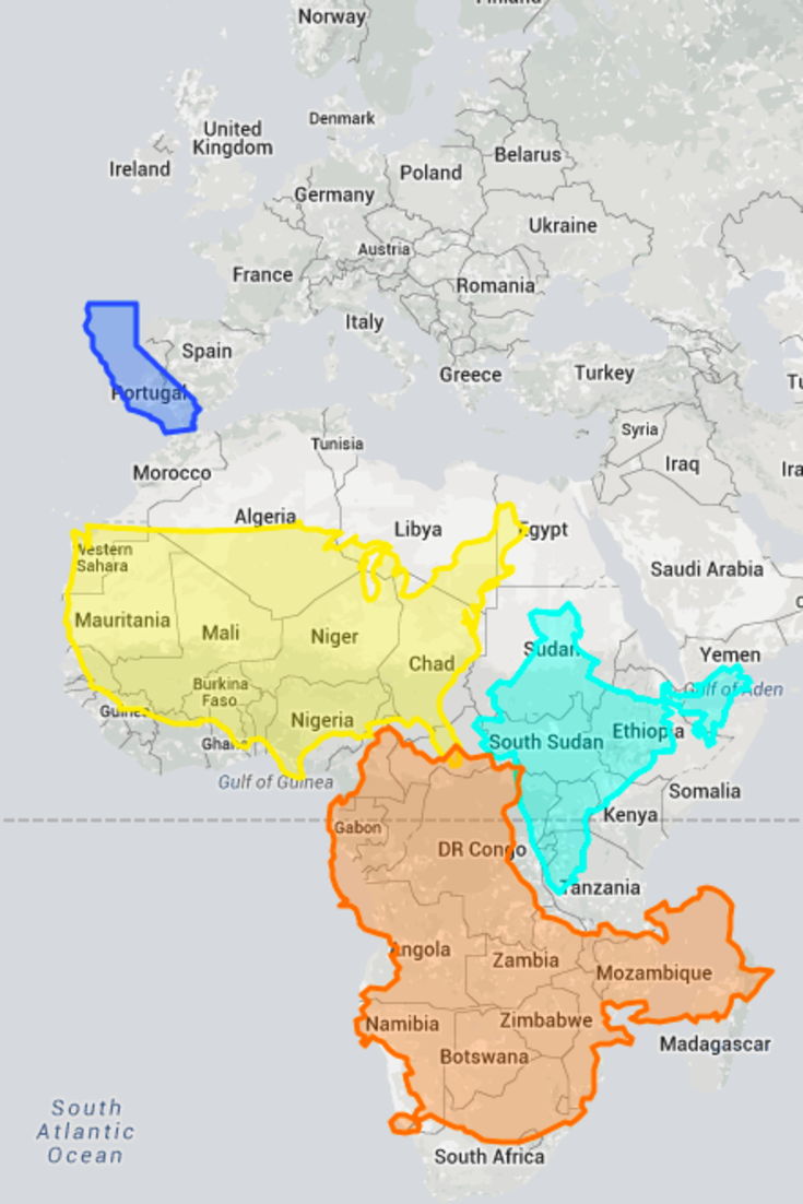 True size map proves youve been picturing the planet all wrong true size map proves youve been picturing the planet all wrong gumiabroncs Choice Image