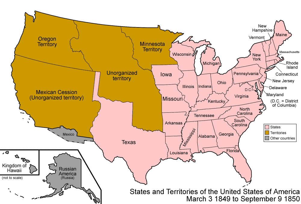map of usa during Lincoln presidency AP History United States