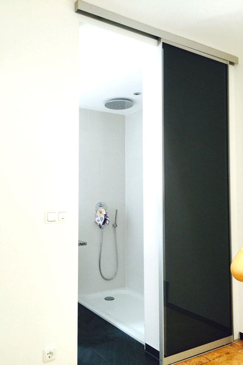 Schiebetuer Badezimmer Glas Esg Door360 Muenchen 1 Schiebetur Raumteiler Schiebetur Schiebe Tur