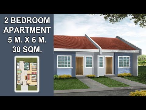 30 Sqm. Small Beautiful Simple Pinoy/OFW Apartment ...