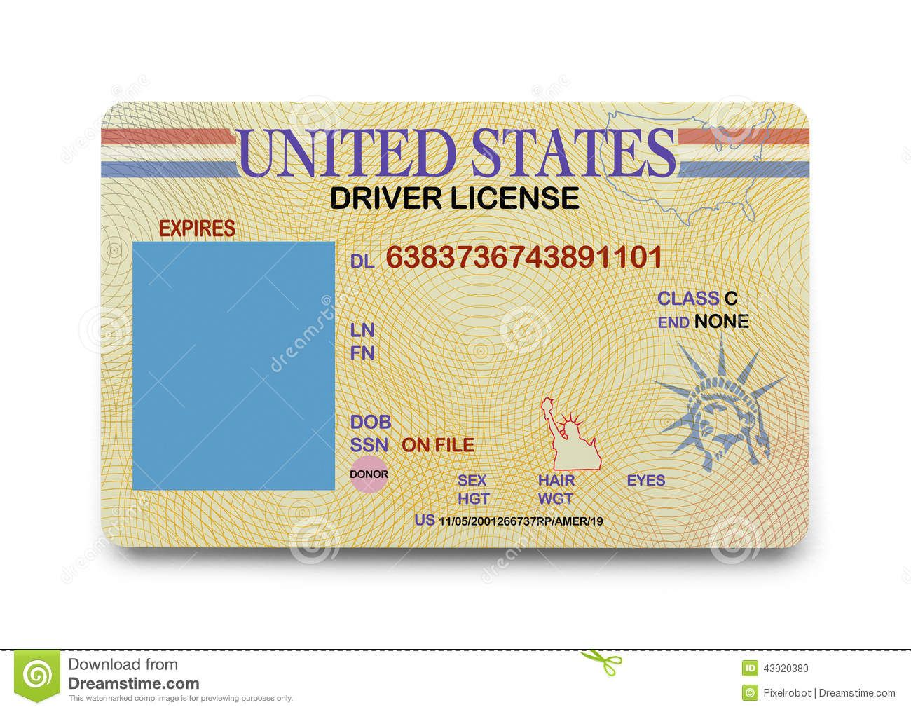 California drivers license blank templates drivers
