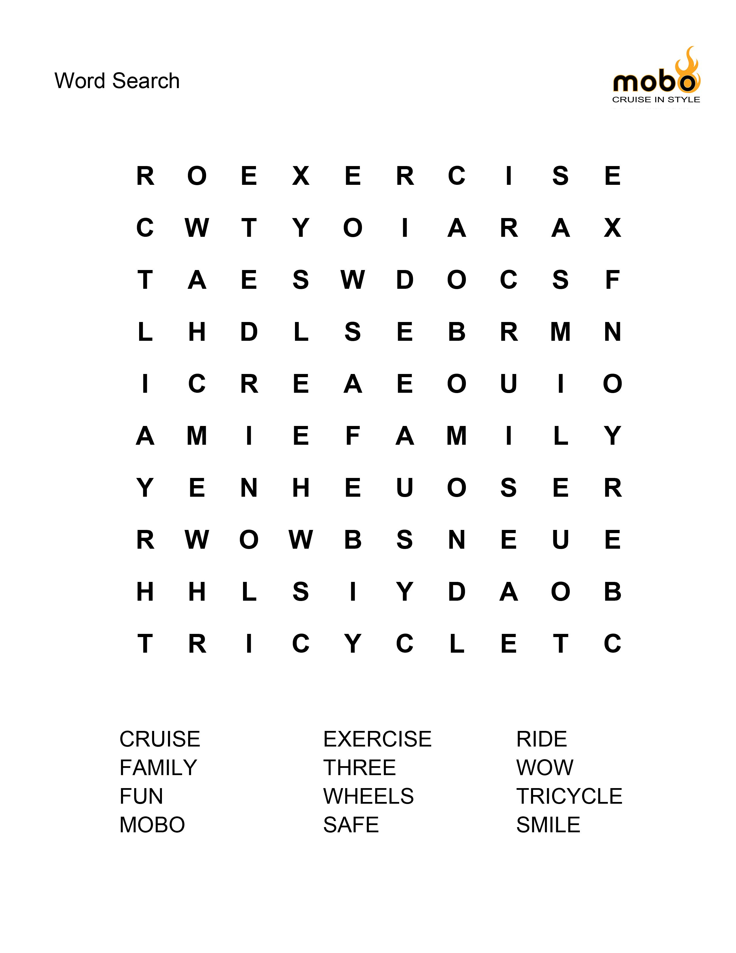 Who Loves A Word Search Here S A Tricycle Themed One For You And