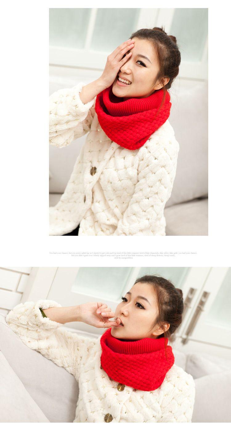 Invierno bufandas de lana bufanda Corea del suéter collares versión ...