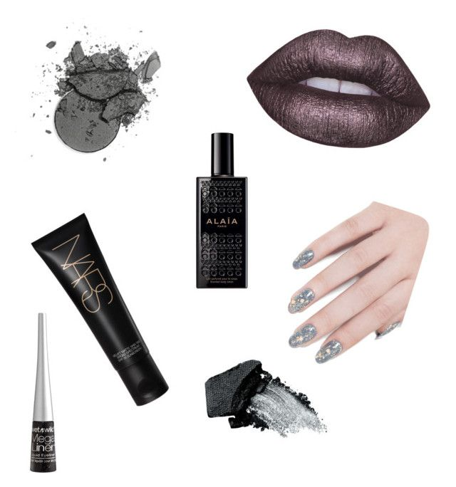 """Sin título #37"" by loveclo on Polyvore featuring Belleza, NARS Cosmetics, Lime Crime, ncLA, Wet n Wild, Alaïa y Gorgeous Cosmetics"