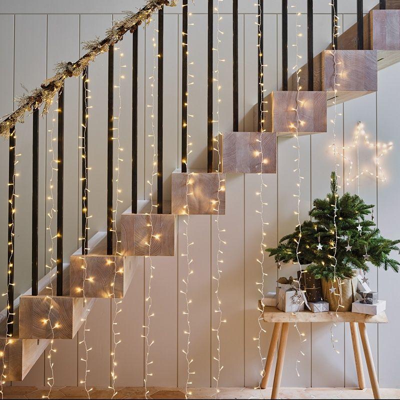 Curtain Lights 500 Bulbs Decorative Accessories The White Company Modern Christmas Decor Christmas Fairy Lights Christmas Light Installation