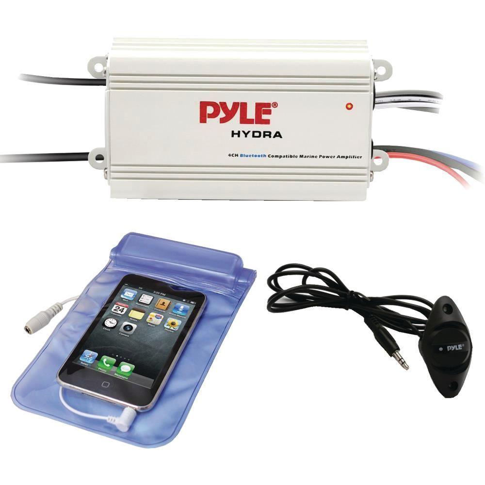 Pyle Hydra Series 200-watt Marine Amp Kit With Bluetooth (4 ... on