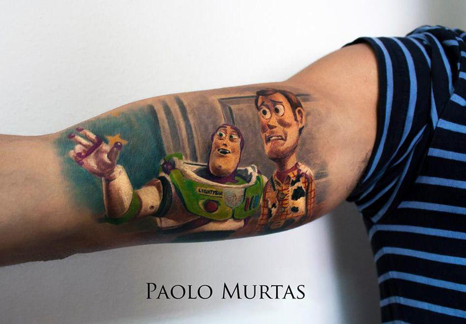 Buzz & Woody Toy Story Tattoo Toy story tattoo, Disney