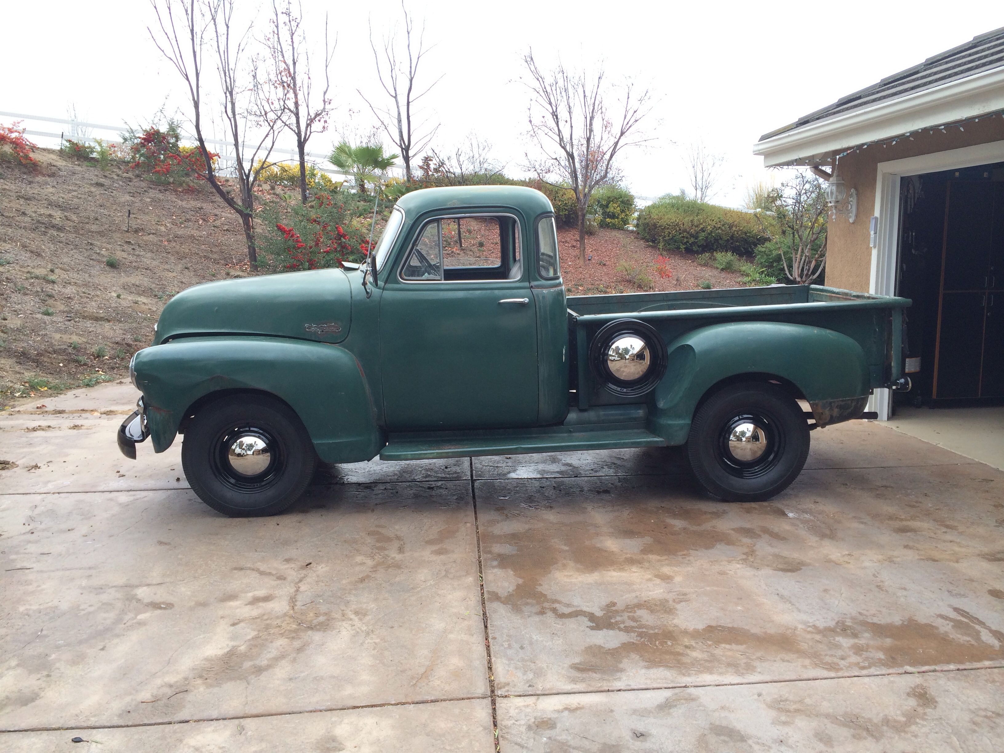 Spare Tire Back Ordered So Heres One Without 1954 Chevy Five Window Pickup 54 Chevy Truck Chevy Trucks Chevy Trucks Older