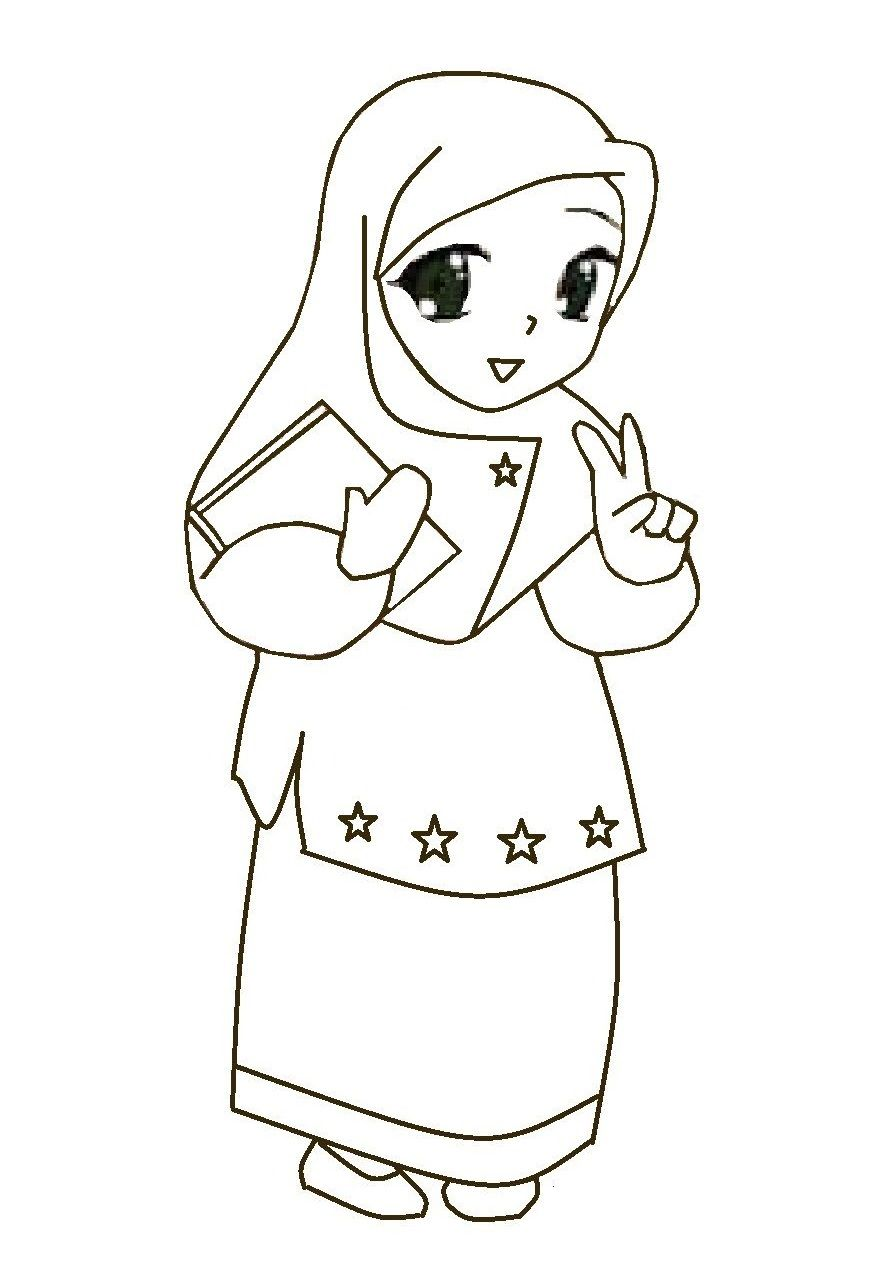 Pin By Asty Fitriani On Kartun Islam Coloring Sheets Eid