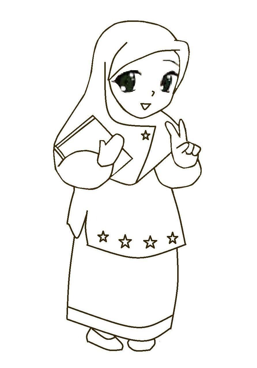 Kartun Muslimah Cute Kolek Gambar