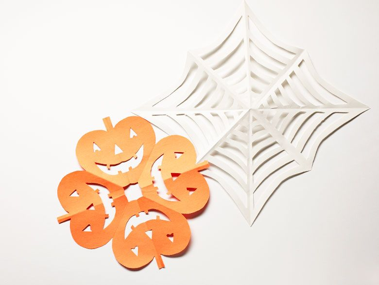Add whimsy to your Halloween decor with paper jack o\'lantern and ...