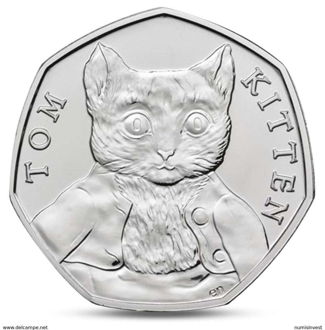 Great Britain Uk 50 Pence Beatrix Potter Tom Kitten 2017 Unc 1971 Decimal Coins Coins 50p Coin Beatrix Potter