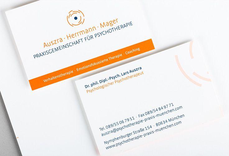 Psychotherapiepraxis München Corporate Design