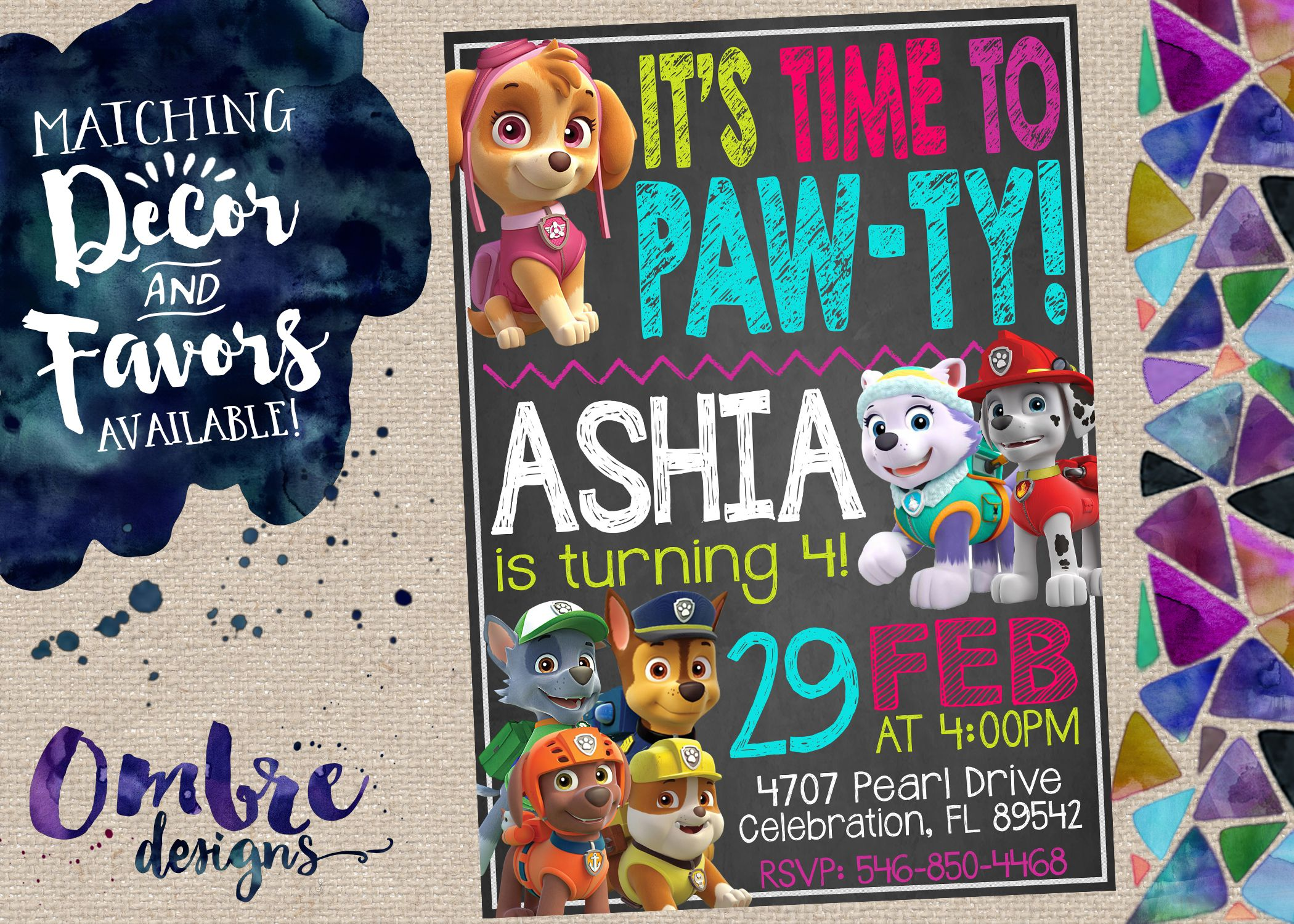 This Paw Patrol Invitation Is The Perfect Way To Invite Guests To