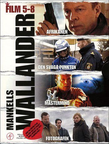 Mankells Wallander Series 5 8 4 Dvds Schwedischer Import Filmer