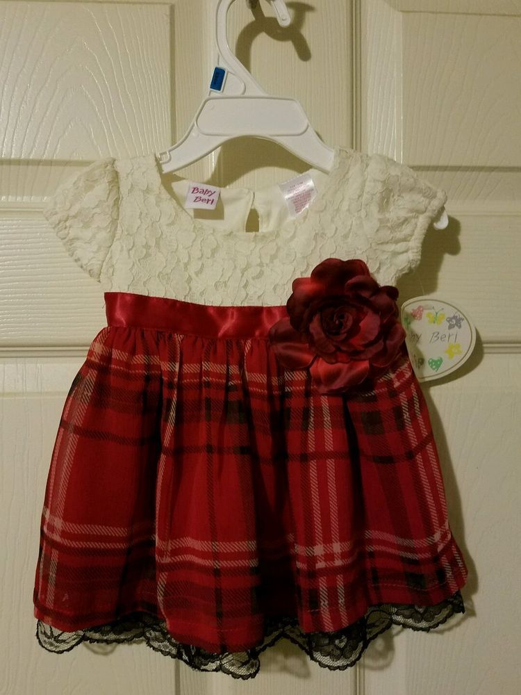 5ccc910e0 Infant Girls Easter Dress 3 - 6 months Red Rose and Ivory