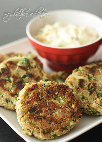 Zucchini Crab Cakes form My Kitchen Addiction...about to become my addiction!