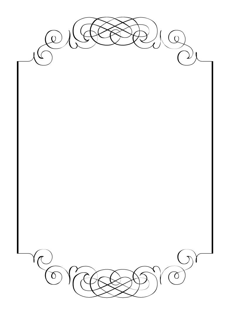 Superior Printable Designs For Wedding Invitations. Free Vintage Clip Art Images:  Calligraphic Frames And Borders