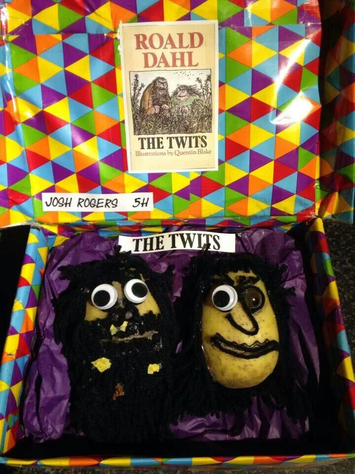 Children Dress Up A Potato As A Book Character For World Book Day