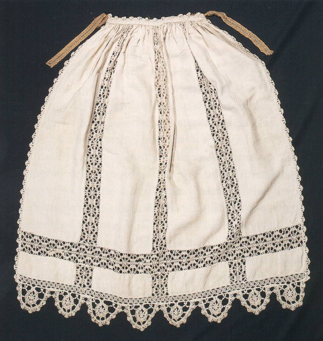 White apron lace trim -  Apron Italy 1550 1600 Aprons Were Commonly Used For Housework This