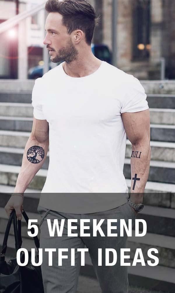 5 Weekend Outfit Ideas For Men. Look no further than these insanely easy outfit ideas.  sc 1 st  Pinterest & 5 weekend outfit ideas | Men Style (mostly summer/spring ...