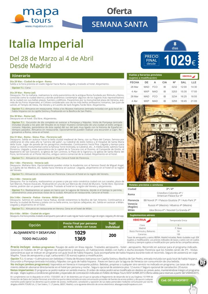 Italia Imperial Semana Santa desde Madrid**Precio final desde 1029** ultimo minuto - http://zocotours.com/italia-imperial-semana-santa-desde-madridprecio-final-desde-1029-ultimo-minuto/