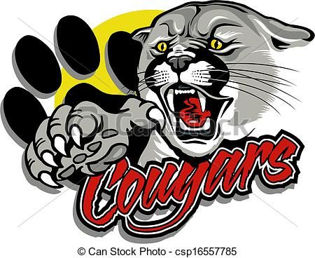 vector cougar with claw stock illustration royalty free rh pinterest com free vector artwork freepics free vector artwork for screen printing