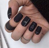 30+ Trendy Matte Black Nails Designs Inspirationen #Schwarz #Designs #Inspiration …