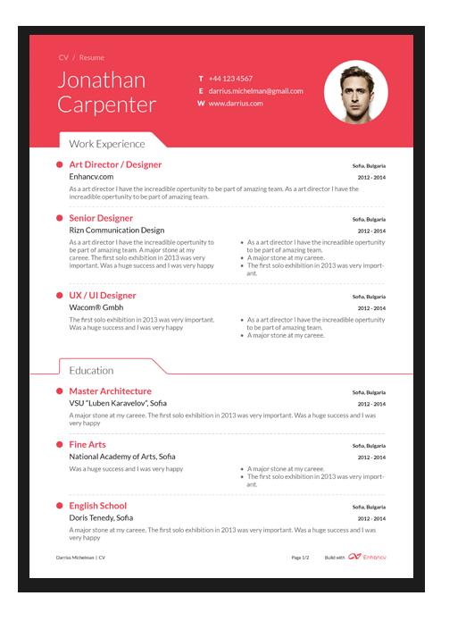 free professional resume builder