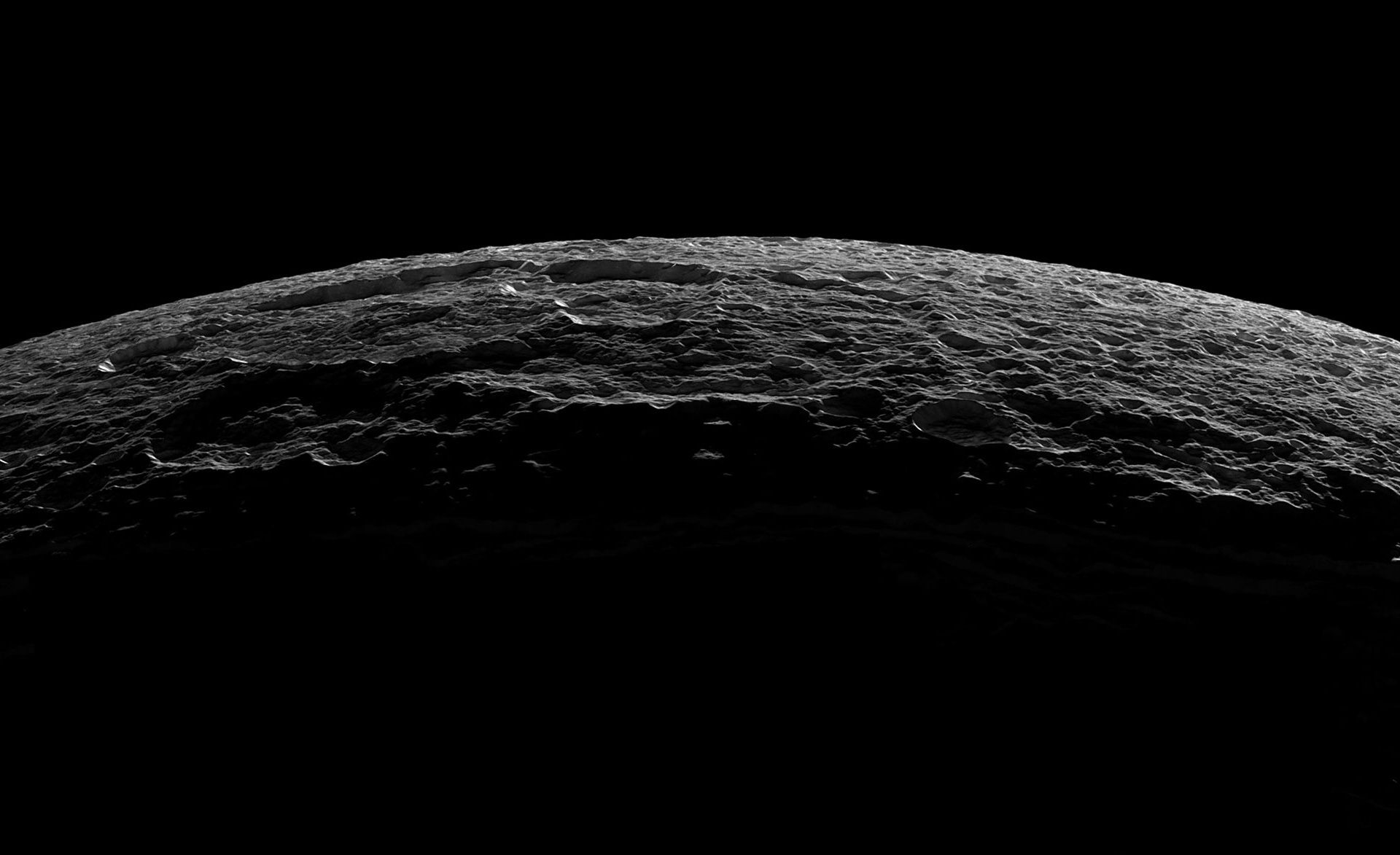 Dark Desktop Wallpaper Hd Bing In 2020 Saturns Moons Dark Wallpaper Nasa Universe