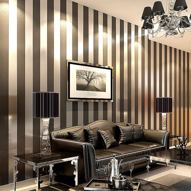 Best Black White Striped Wall Room Google Search Wallpaper 400 x 300