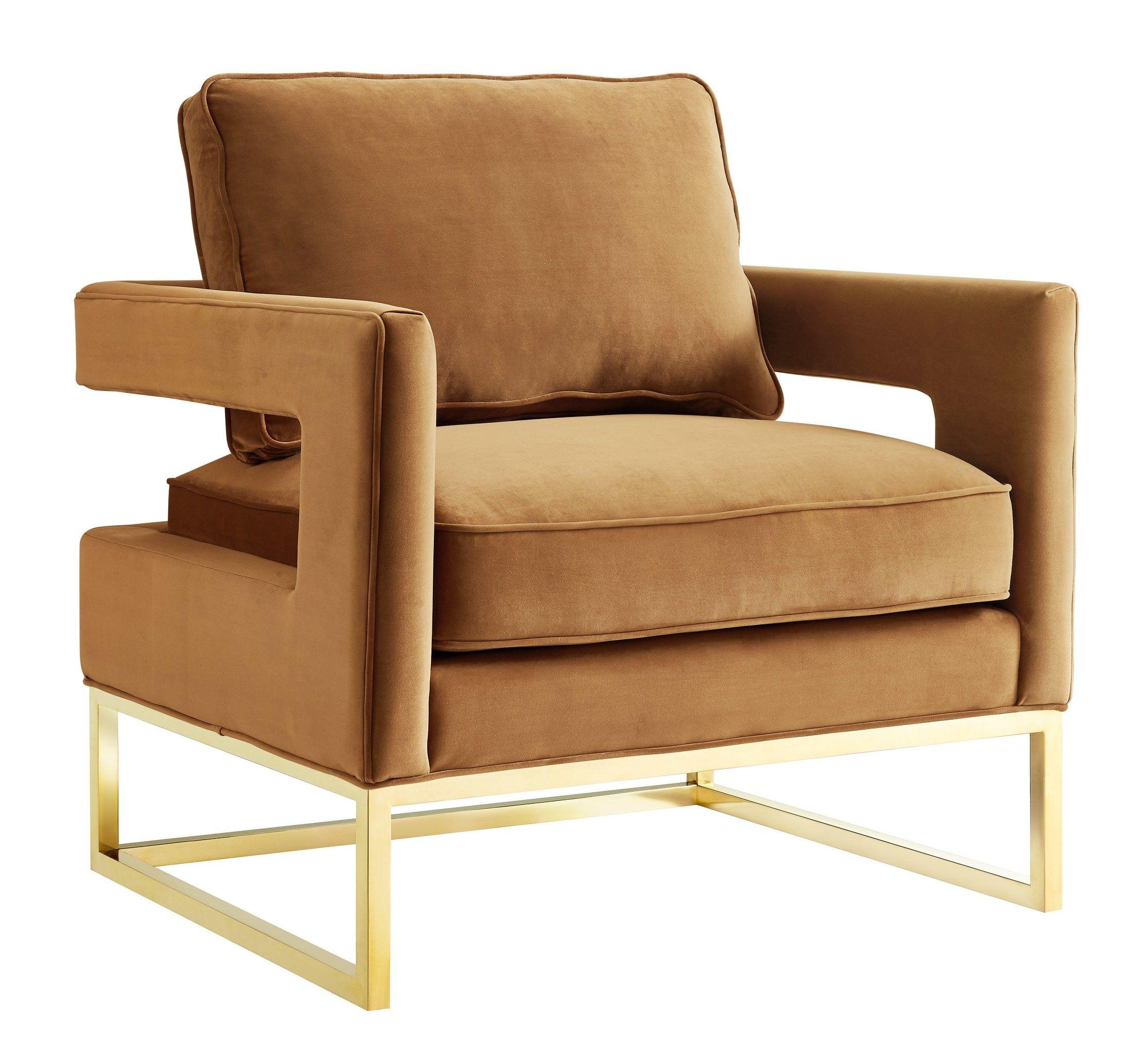 Best Orphene Velvet Chair Cognac Velvet Chair Furniture 400 x 300