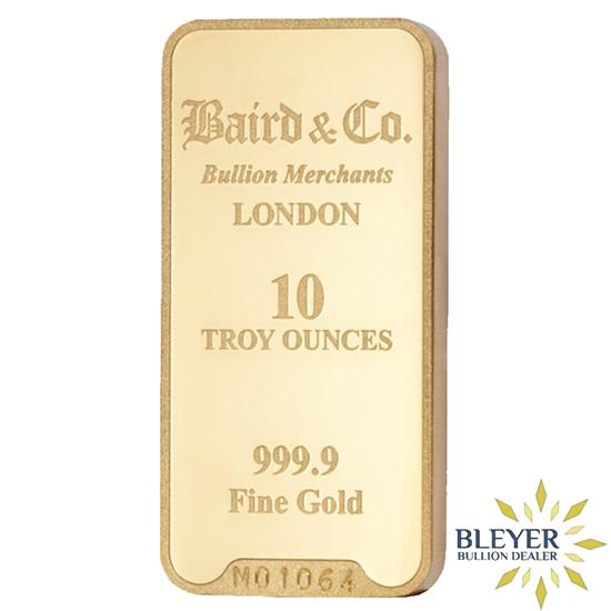 10oz Baird Co Minted Gold Bar Silver Dollar Coin Value Mint Gold Gold Bullion