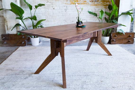 Modern Dining Table Scandinavian Table Walnut Dining Table