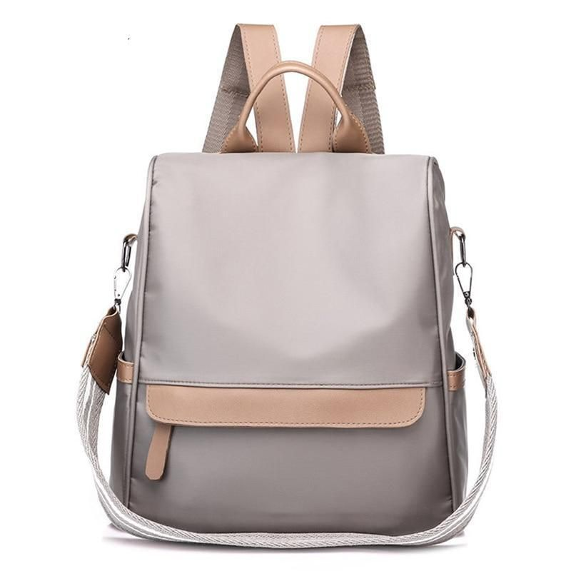 Backpacks Women Leather Large Capacity Shoulder Bag Handbag Multi-Function College School Bag