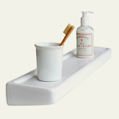 tablette murale en porcelaine blanche salle de bains bathroom wall shelves wall shelves et. Black Bedroom Furniture Sets. Home Design Ideas